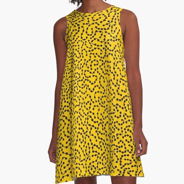 yellow art yayoi kusama A-Line Dress