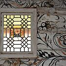 Window in the old church of Ardal - Norway by Arie Koene