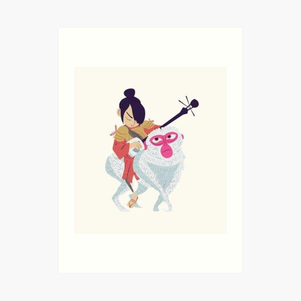 Kubo and Monkey Art Print