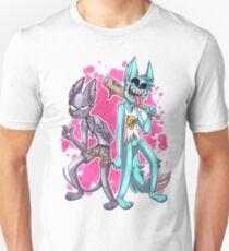 Krystal and Skinny - Mom-Friendly Pink Blood Edition Slim Fit T-Shirt