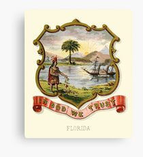 Historical Coat of Arms of Florida  Canvas Print