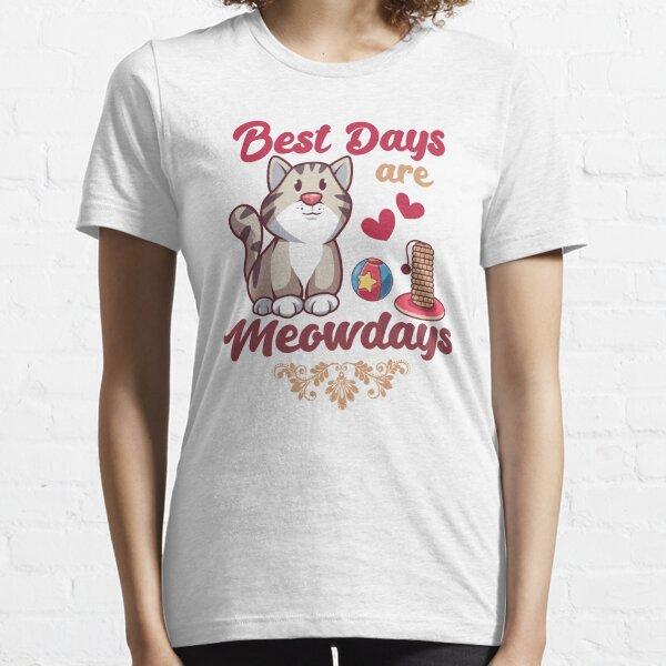 Best Days Are Meowdays Cat kawaii Essential T-Shirt