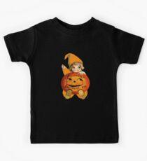 Halloween Birthday Kid with Vintage Art Kids Tee