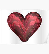 Rose heart Poster