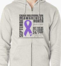 September - Chiari Awareness Month Zipped Hoodie