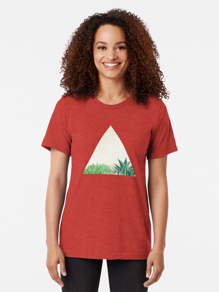 Alternate view of Succulent Forest Tri-blend T-Shirt