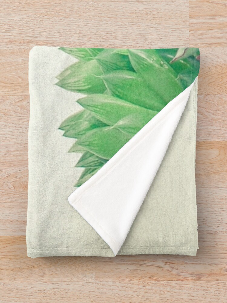 Alternate view of Succulent Forest Throw Blanket