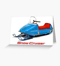 Snow Cruiser Vintage Snowmobiles Greeting Card