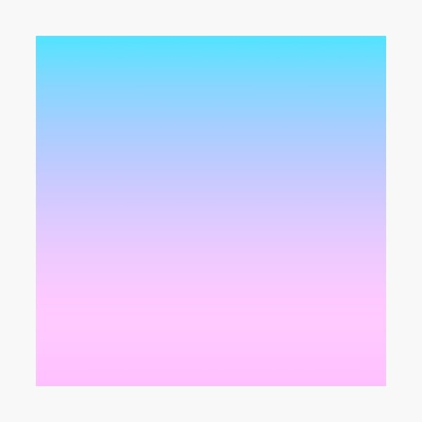Pink Blue Gradient Photographic Print