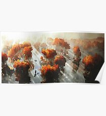 Flying in Autumn Poster