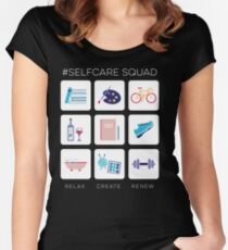 Self Care Squad - Full Squad Women's Fitted Scoop T-Shirt