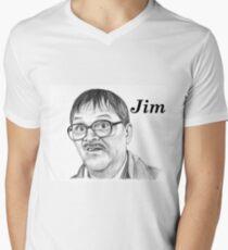 Mark Heap plays Jim  Men's V-Neck T-Shirt