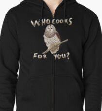 Barred Owl Zipped Hoodie