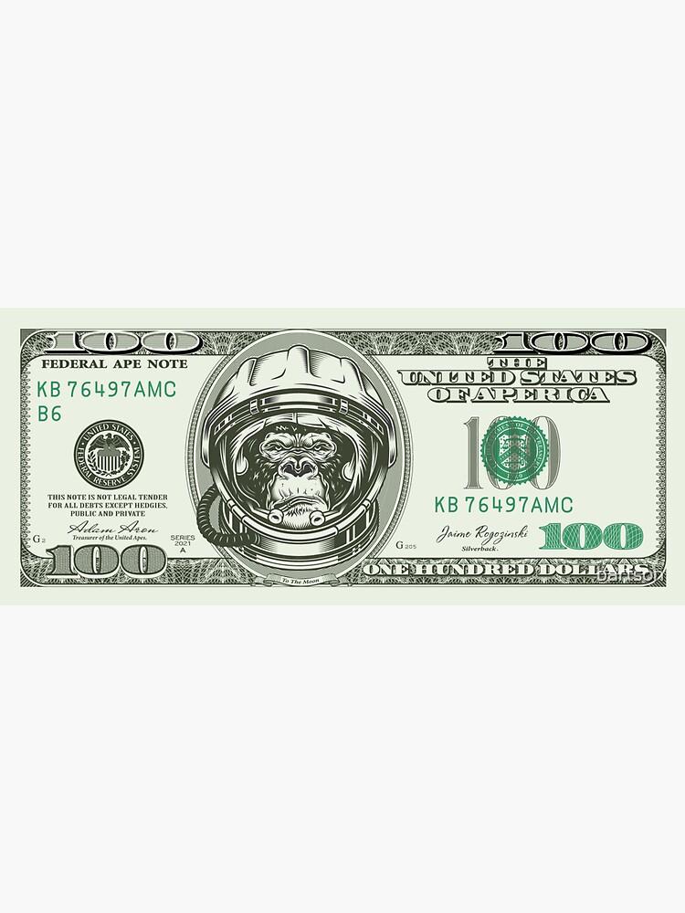 AMC Ape Dollar Note by bartson