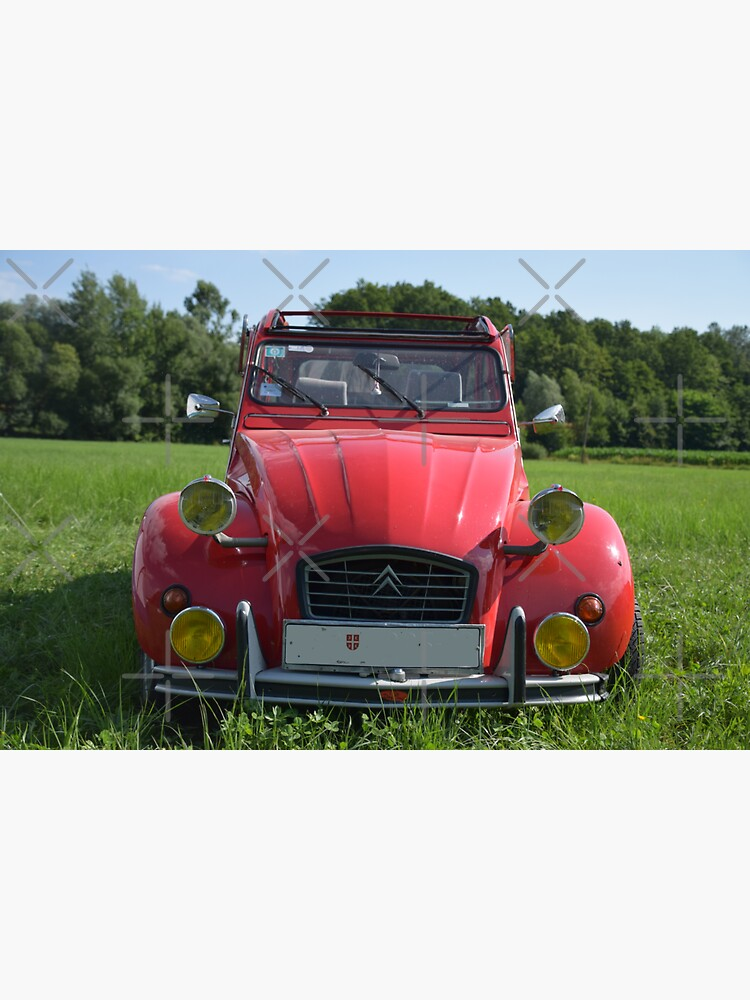 Citroen 2CV red with additional headlights by Roland69