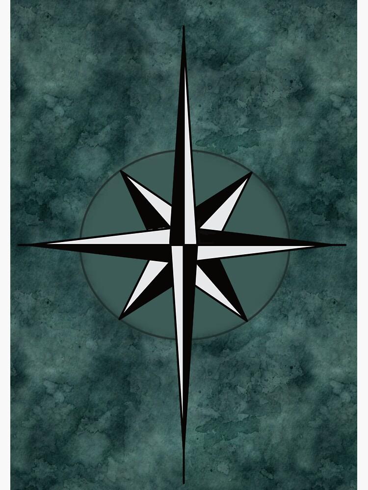 Basic Compass Rose #2 by 13SkiesStudio