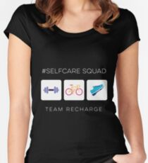 Self Care Squad - Team Recharge Women's Fitted Scoop T-Shirt