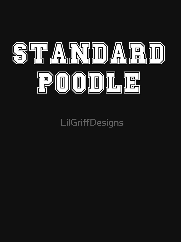 STANDARD POODLE by LilGriffDesigns