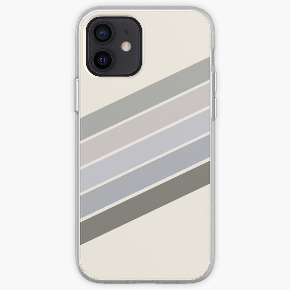 RETRO GRAY beige RAINBOW  iPhone Case & Cover