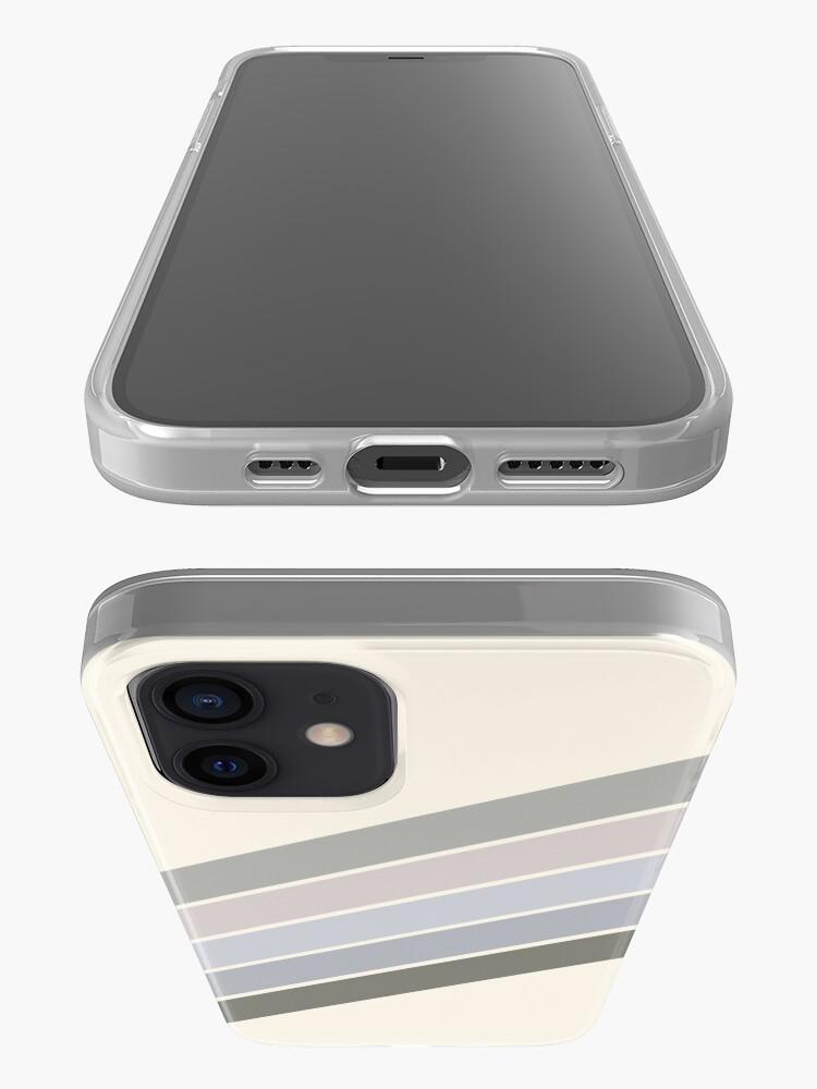 Alternate view of RETRO GRAY beige RAINBOW  iPhone Case & Cover