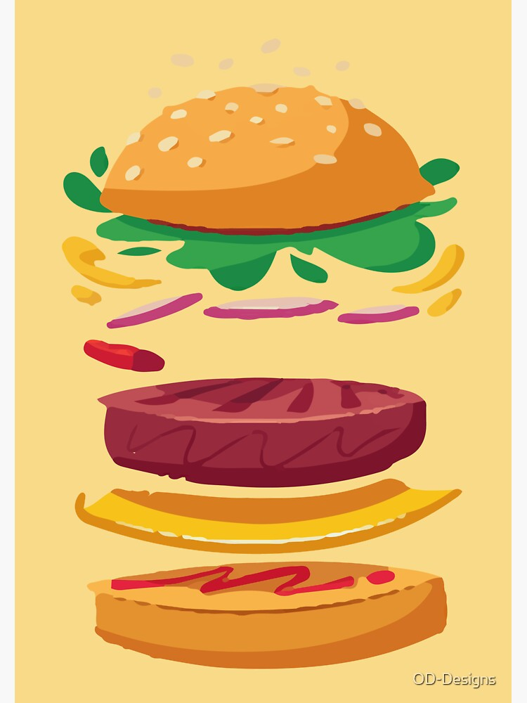 Burger Explosion Illustration  by OD-Designs