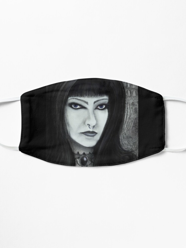 Alternate view of Whitby Jet Gothic Mask