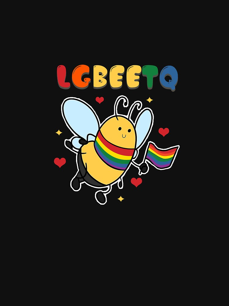 LGBEETQ LGBTQ  Community Bee Honeycomb Insect Honey Bees Beehive Stingless Honeybee T-shirt Design by Customdesign200