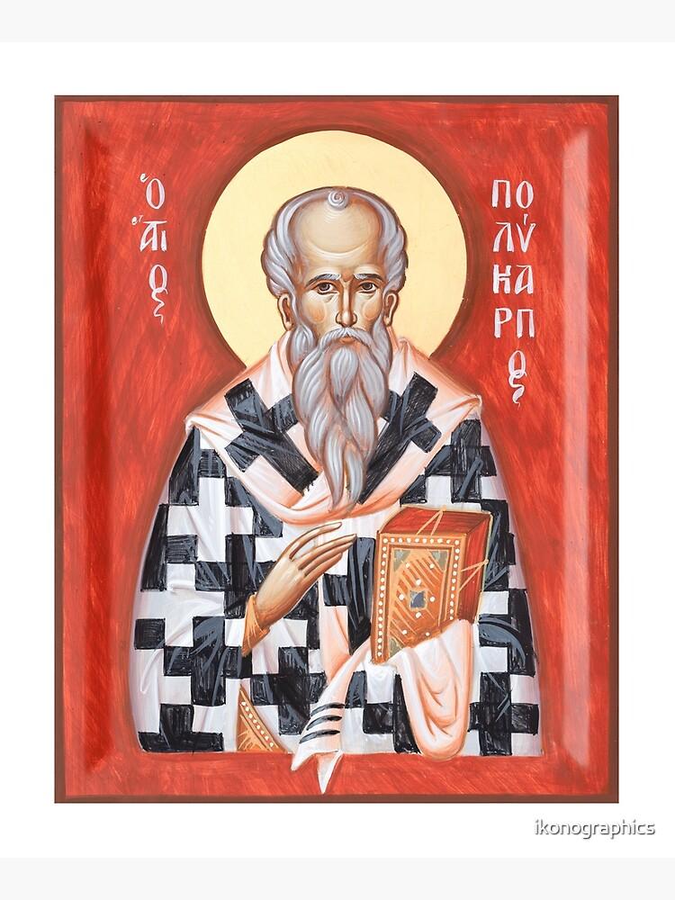 St Polycarp of Smyrna by ikonographics