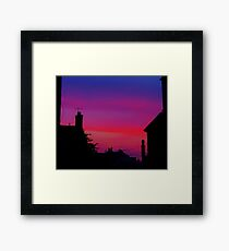 Red Sky - Unique Photography Framed Print