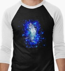Psychedelic Galaxy Cat in space Men's Baseball ¾ T-Shirt