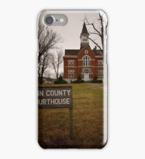Linn County, Kansas, Courthouse iPhone Case/Skin