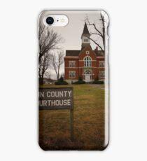 Linn County, Kansas, Courthouse iPhone Case/Skin