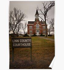 Linn County, Kansas, Courthouse Poster