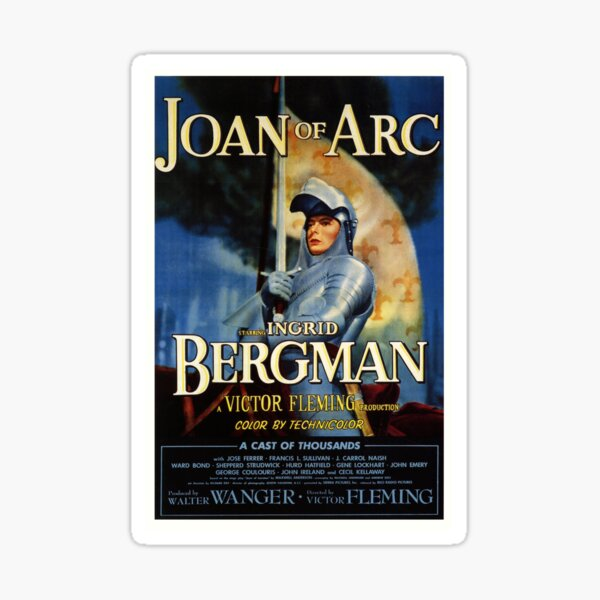 Joan of Arc Victor Fleming Sticker