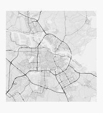 Amsterdam, Netherlands Map. (Black on white) Fotodruck