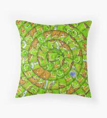 Carcassonne swirl Throw Pillow