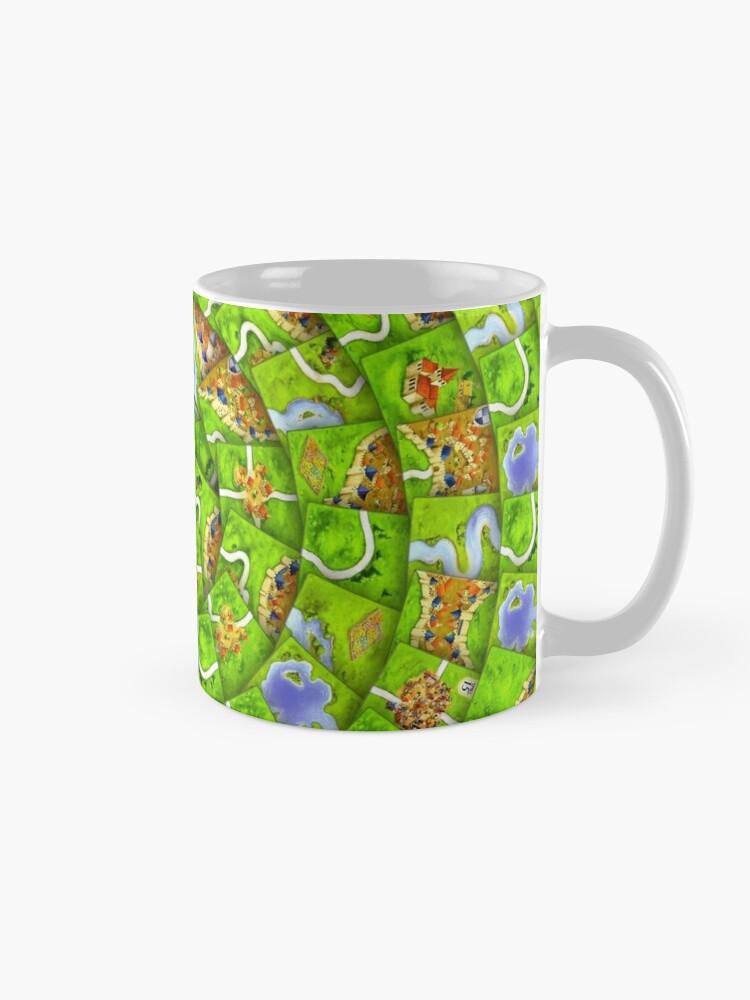 Alternate view of Carcassonne swirl Mug