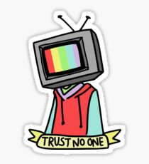 trust no one tv kid Sticker