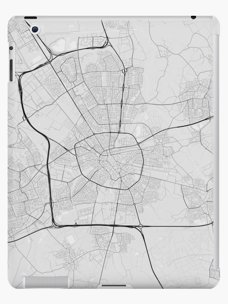 \'Eindhoven, Netherlands Map. (Black on white)\' iPad Case/Skin by  Graphical-Maps