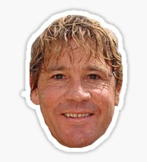 Steve Irwin head Sticker