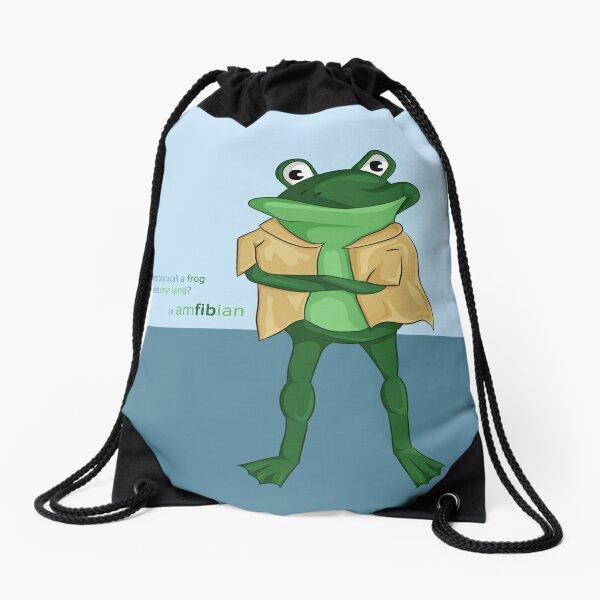 You Frogging Kidding Me Drawstring Bag