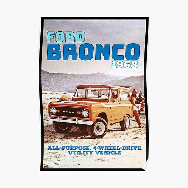Vintage 1968 Ford Bronco Off Road Poster