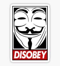 disobey Sticker