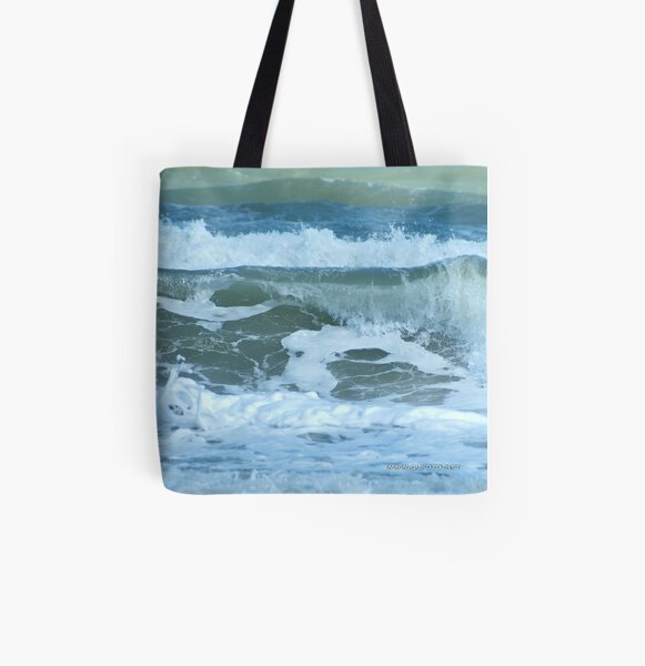 Sudden Surge, Melbourne Beach, Florida All Over Print Tote Bag