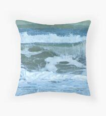 Sudden Surge, Melbourne Beach, Florida Throw Pillow
