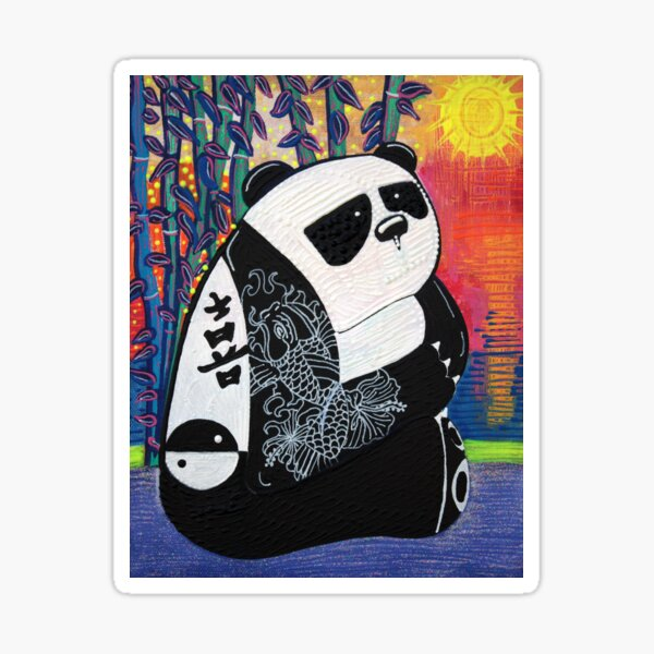 Panda Zen Master Sticker