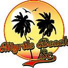 MYRTLE BEACH SOUTH CAROLINA BEACH PALM TREE OCEAN SCENE by MyHandmadeSigns