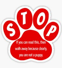 Funny Dog Quote Sticker