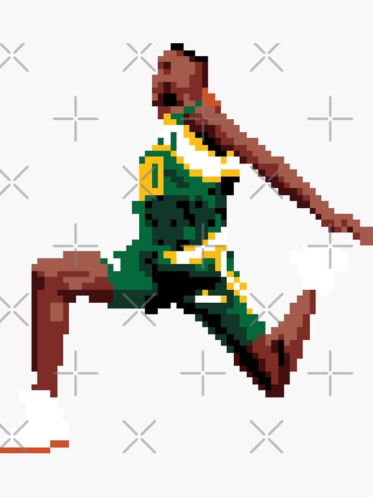 Shawn Kemp pixel dunk by qiangdade