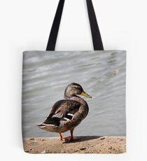 ducks on lake Tote Bag